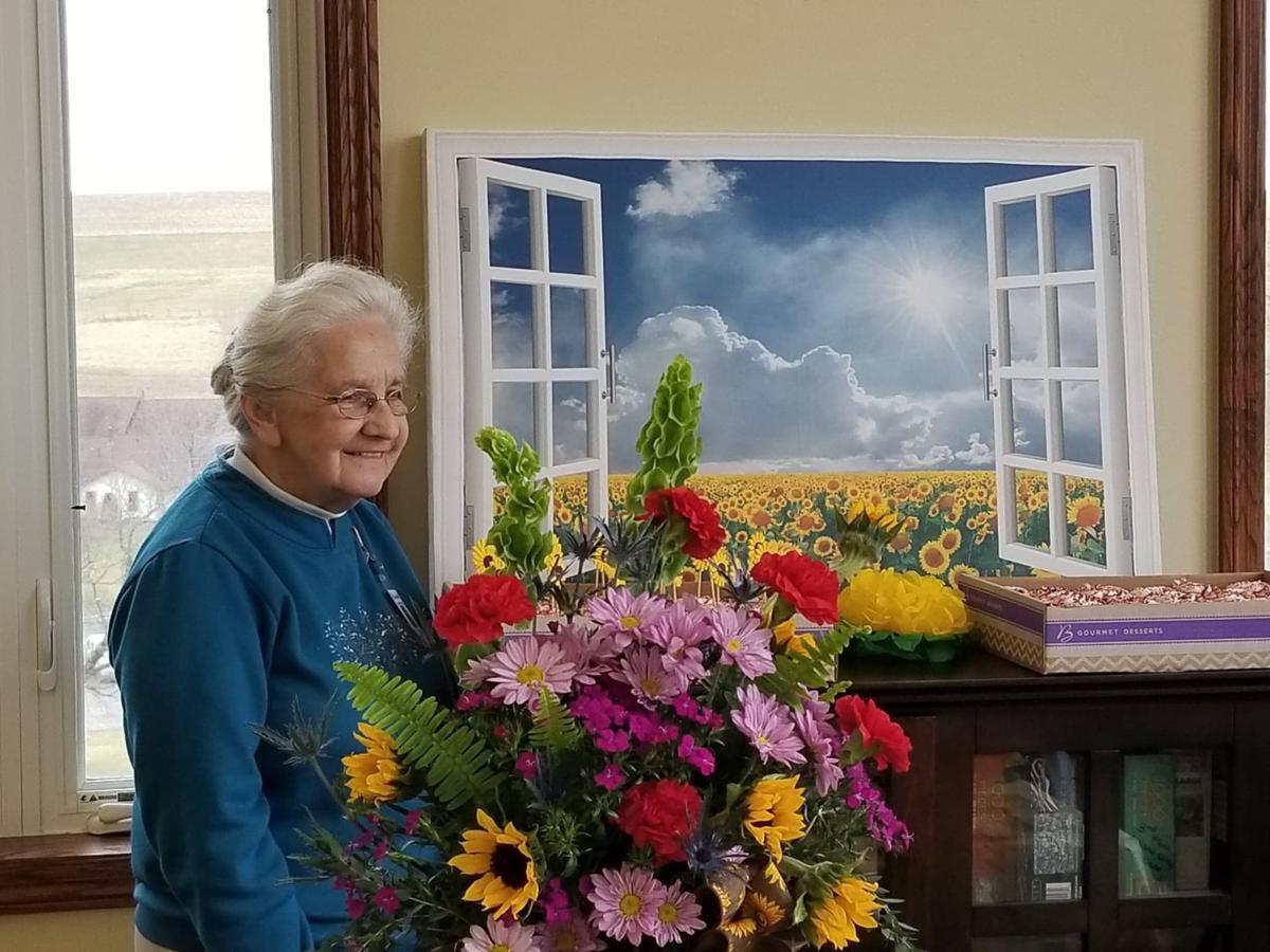 Doris with painting