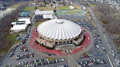 WVU Coliseum aerial view