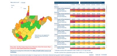 County Alert Map 11-25