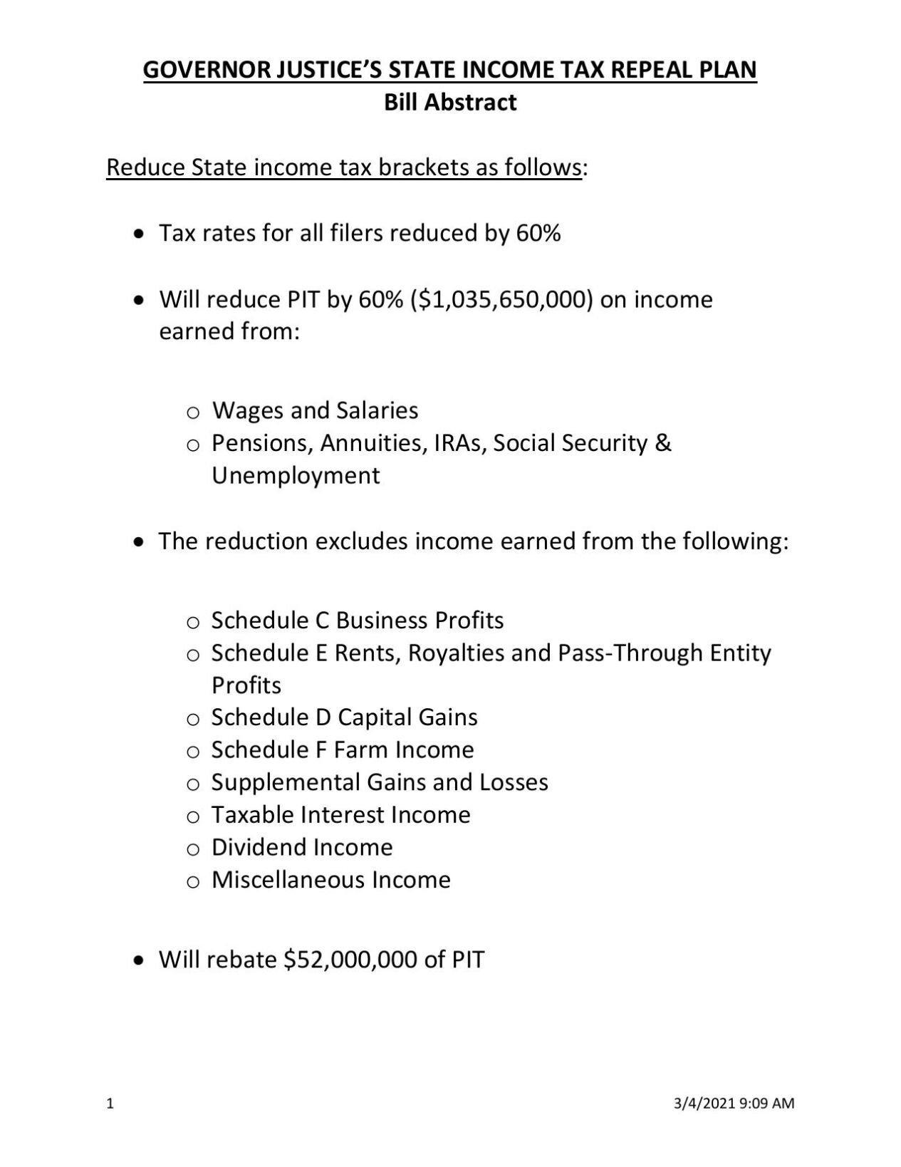 Tax Bill Abstract