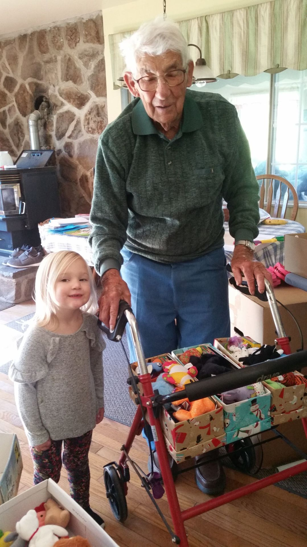 Miller and great-granddaughter