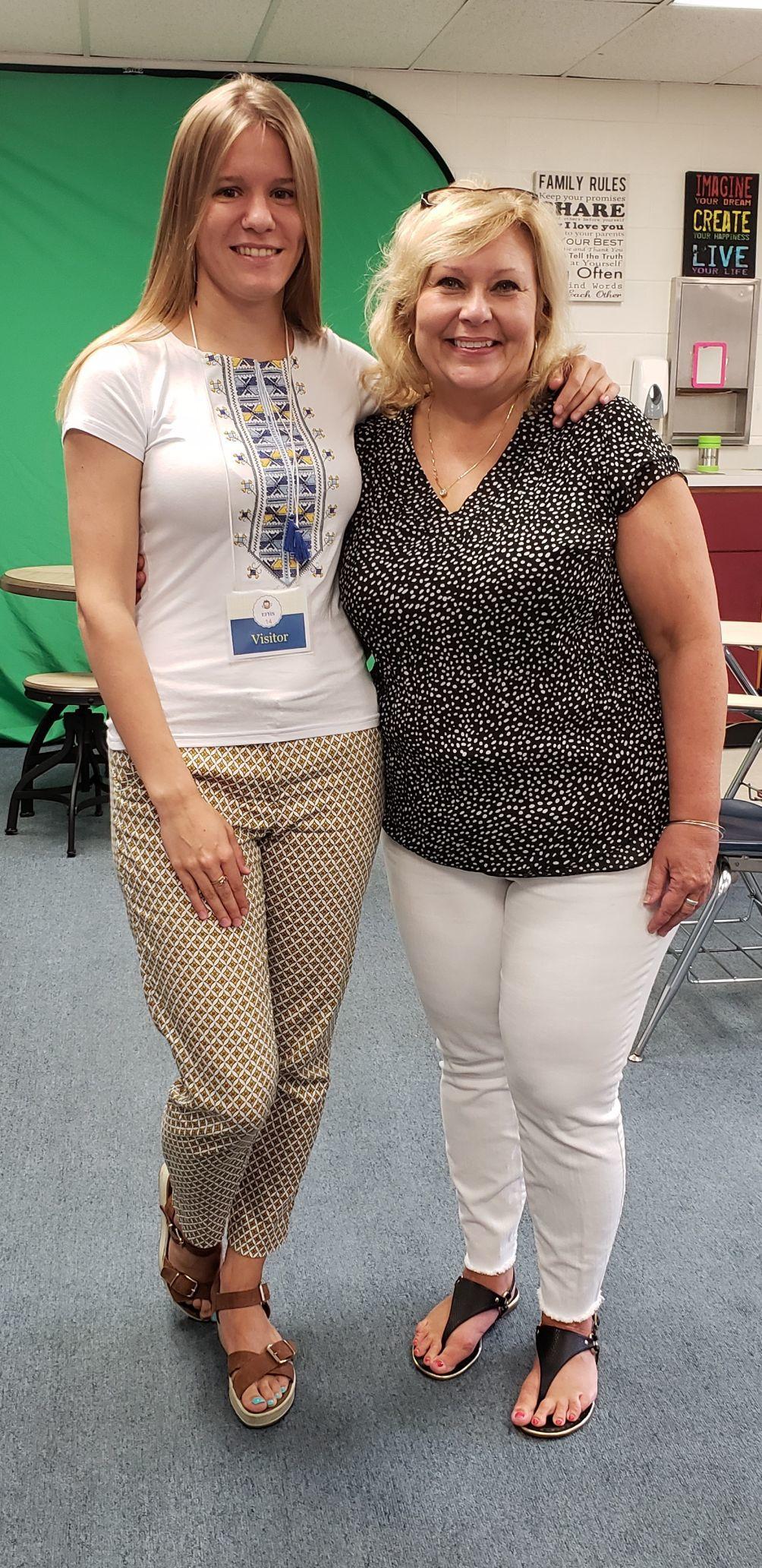 Liuda Pustovit and Kathy Gerau
