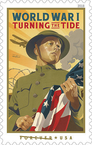 Turning the Tide forever stamp by Stutzman