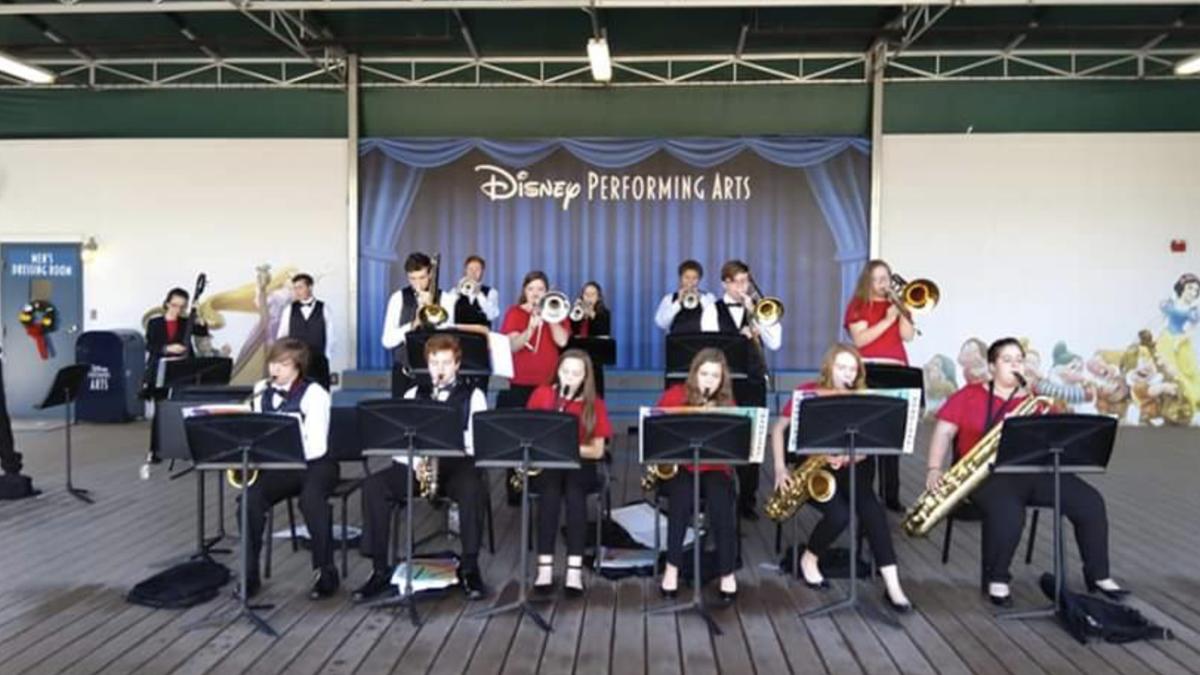 Performing at Disney