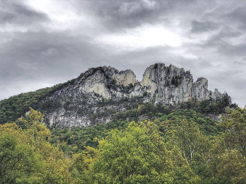 Seneca rocks overcast