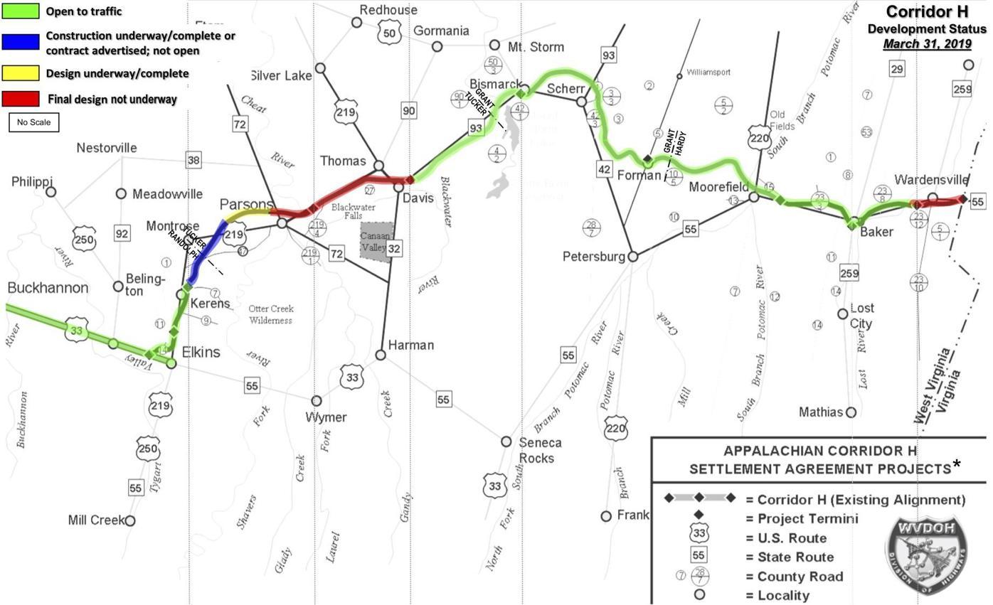 Corridor H map