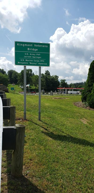 Kingmont Veterans Bridge Sign