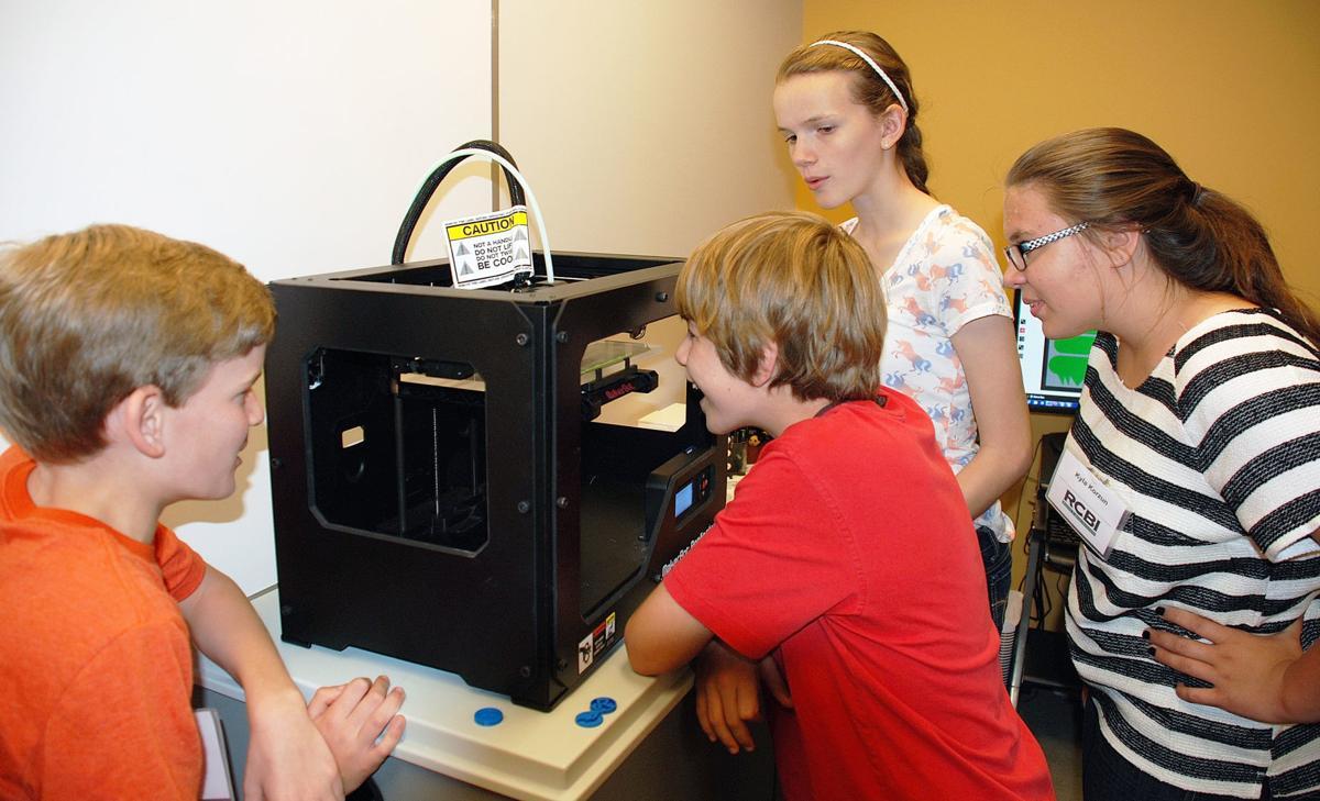 kids and printer