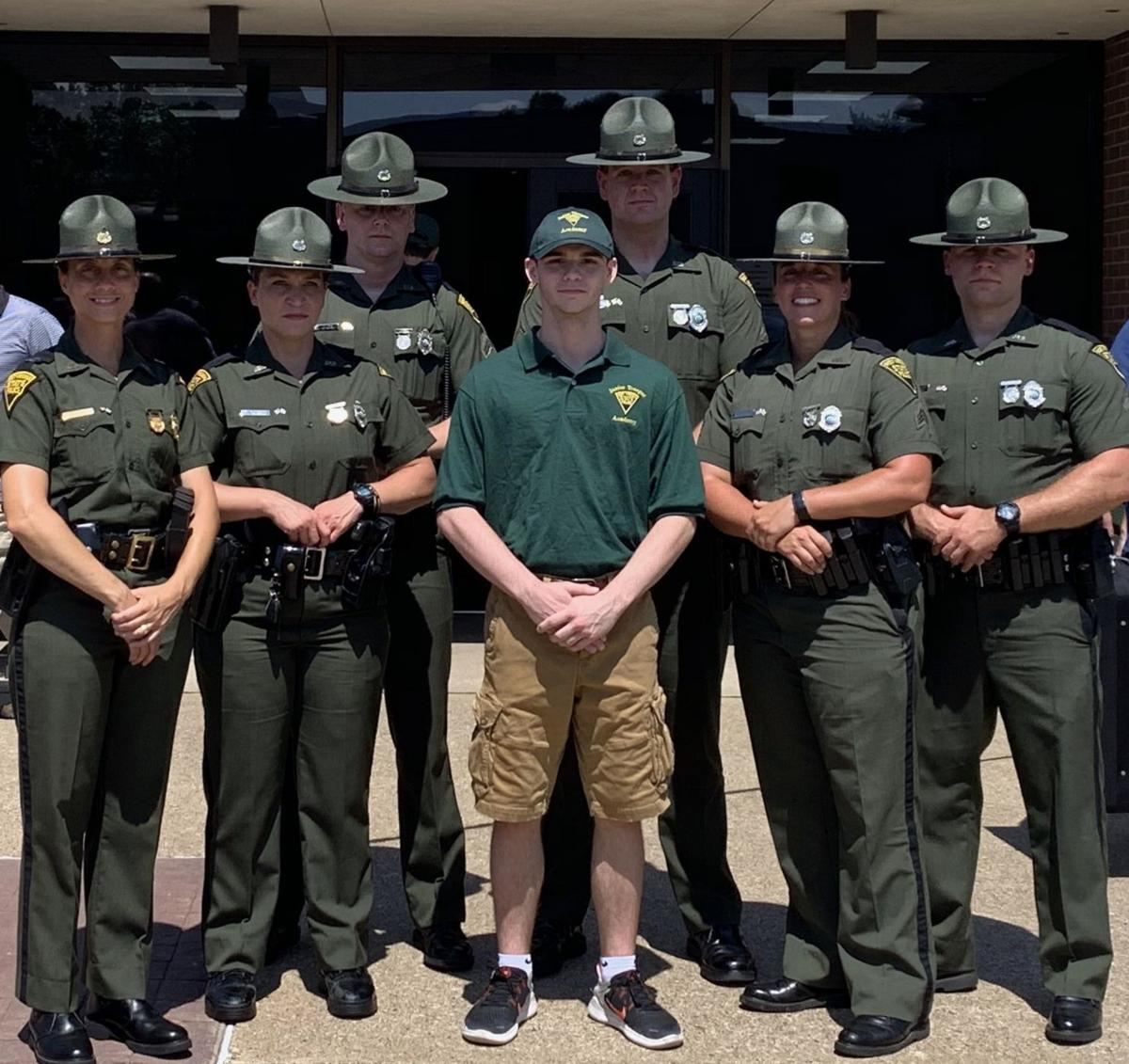 Local student attends Junior State Trooper Academy