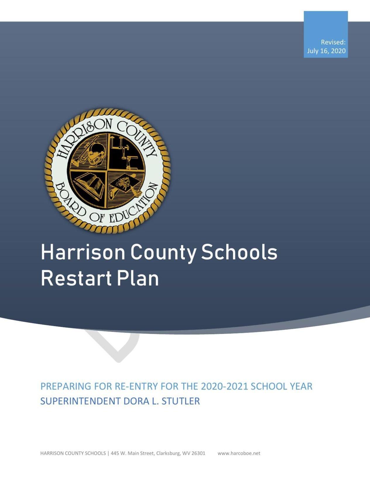 Harrison County Schools Restart Plan