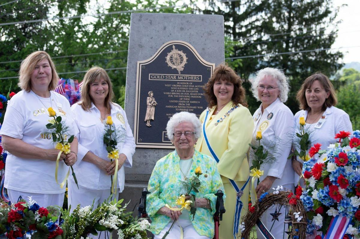 Gold Star Mothers and plaque