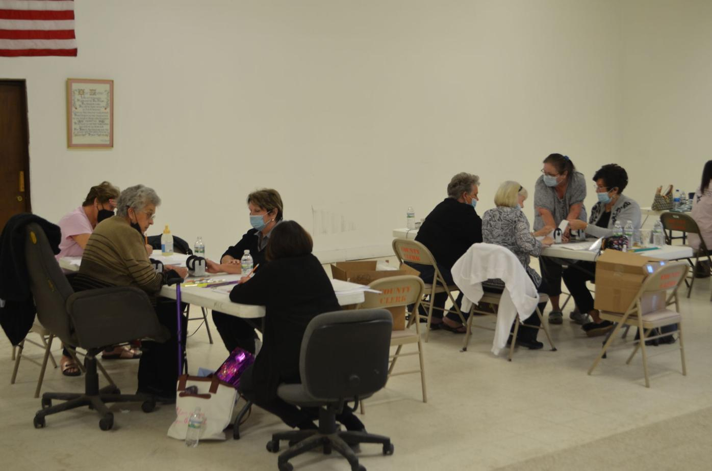 Marion poll workers canvassing