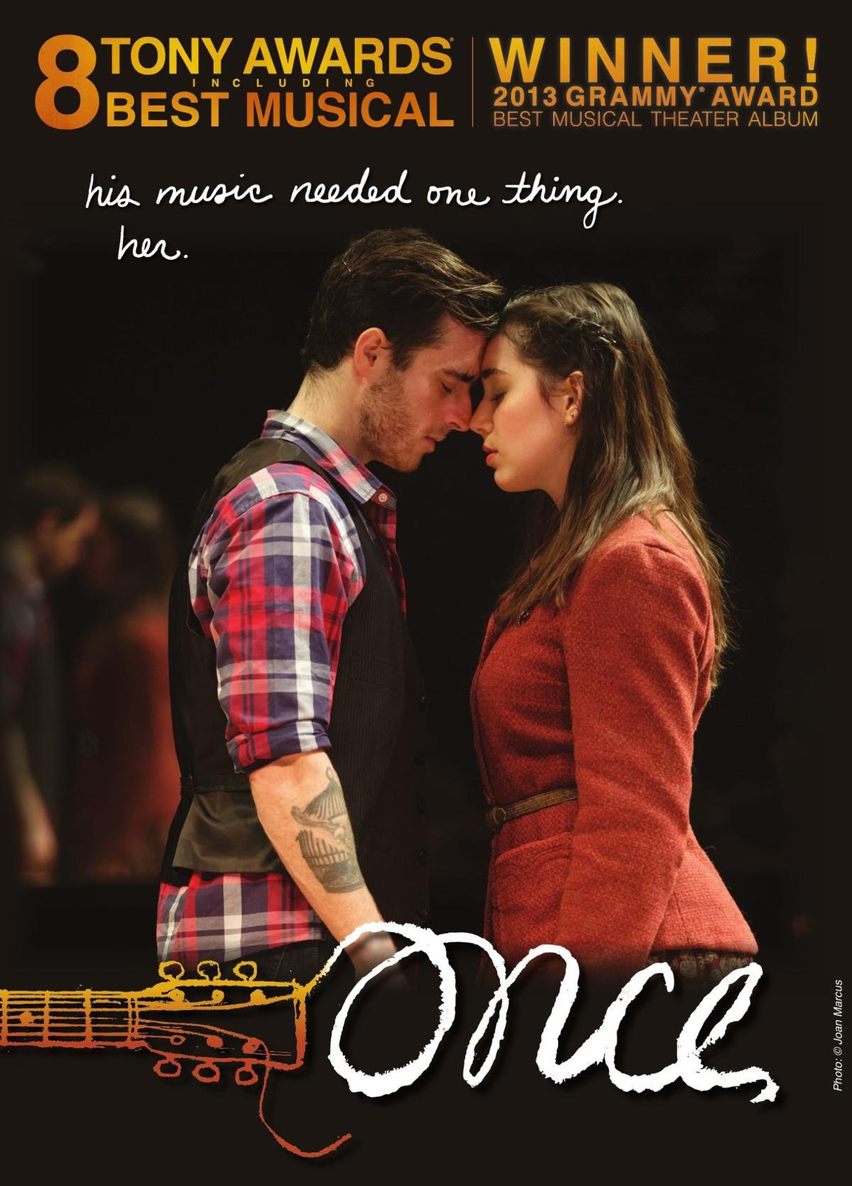 'ONCE the Musical' poster