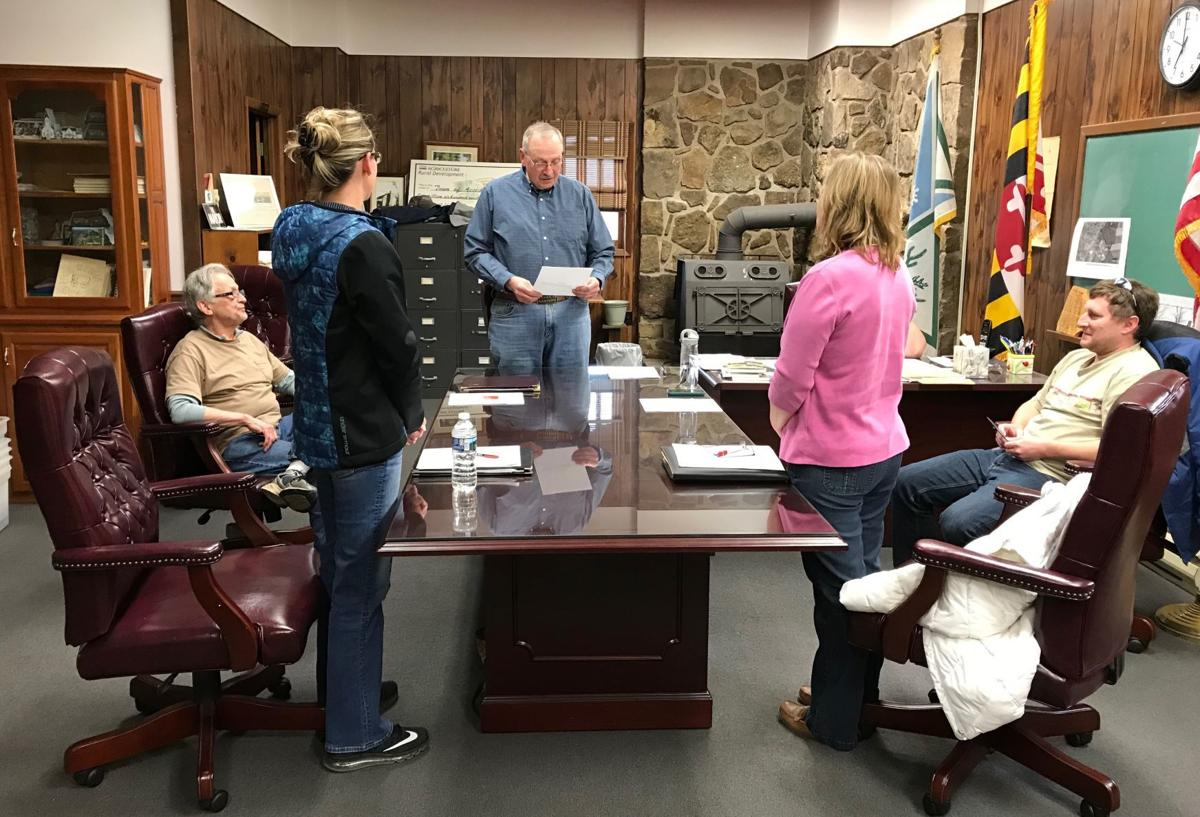 Accident councilwomen sworn in for new terms