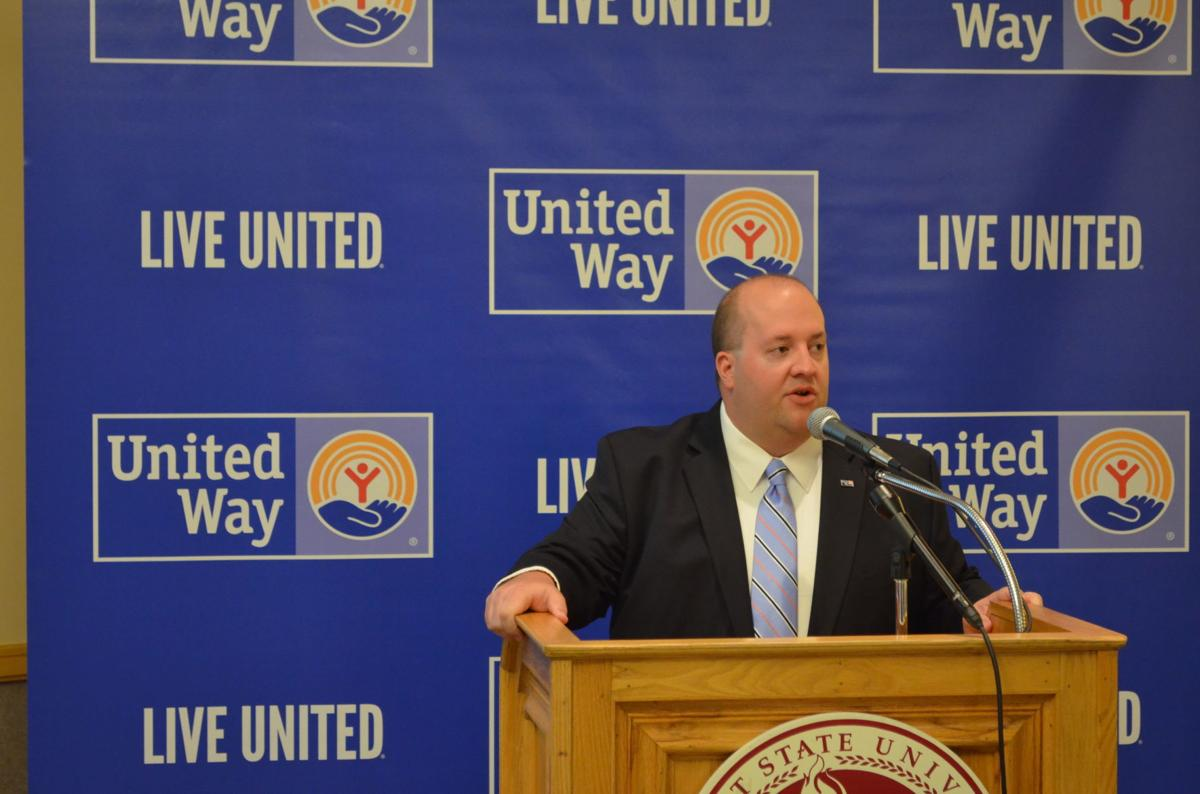 Brett White announces goal