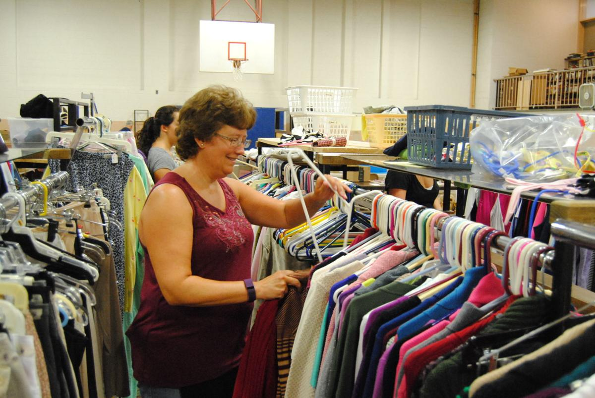 Most of the donated items were sold during rummage sale