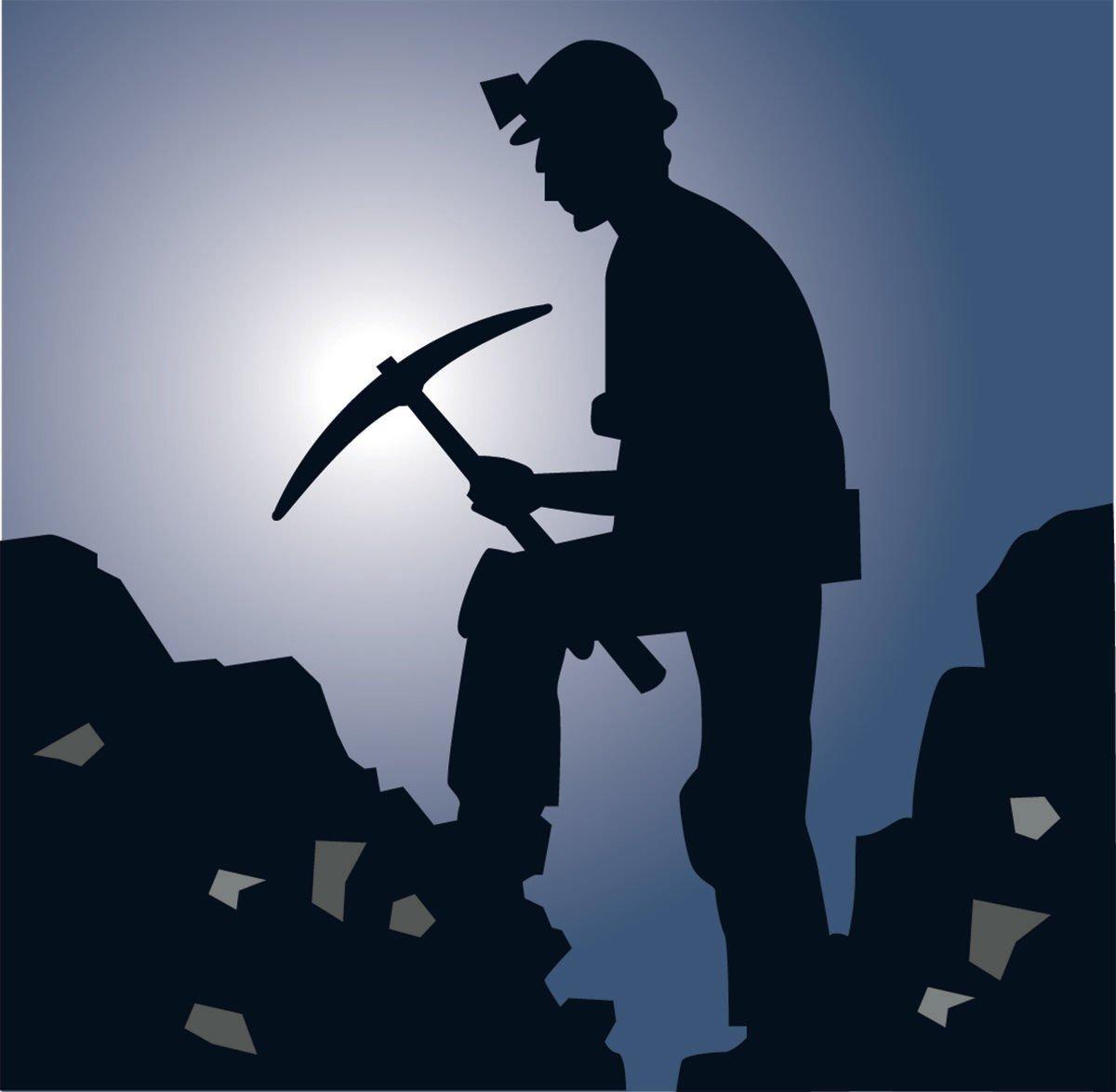 Miner silhouette