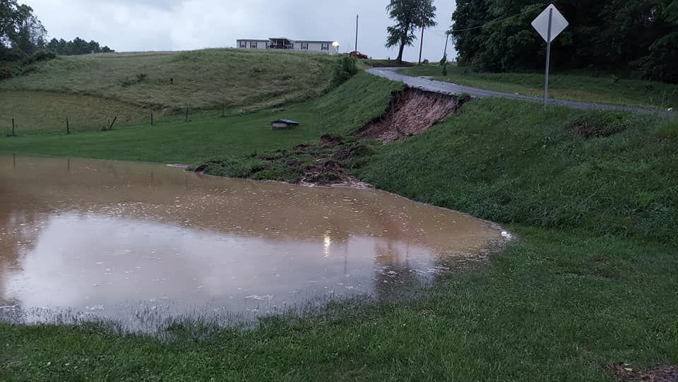 Barrackville roadslide