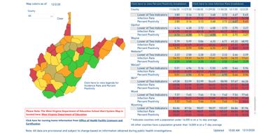 County Alert Map 12-03