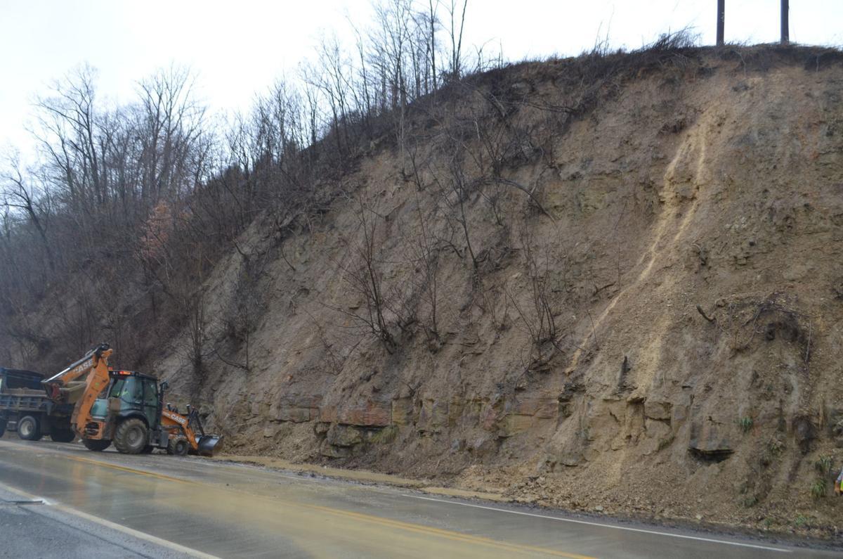 Rt. 250 landslide