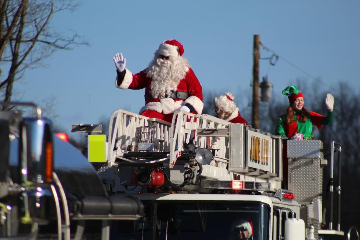 Santa Claus in Jane Lew parade