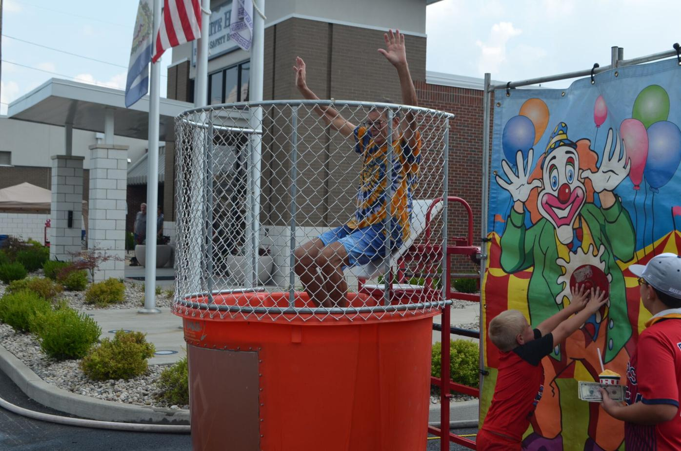 Michael gets dunked