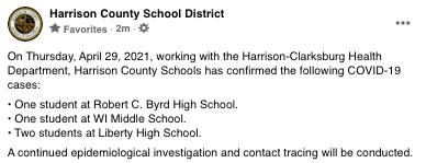 Harrison County Schools, 4/29