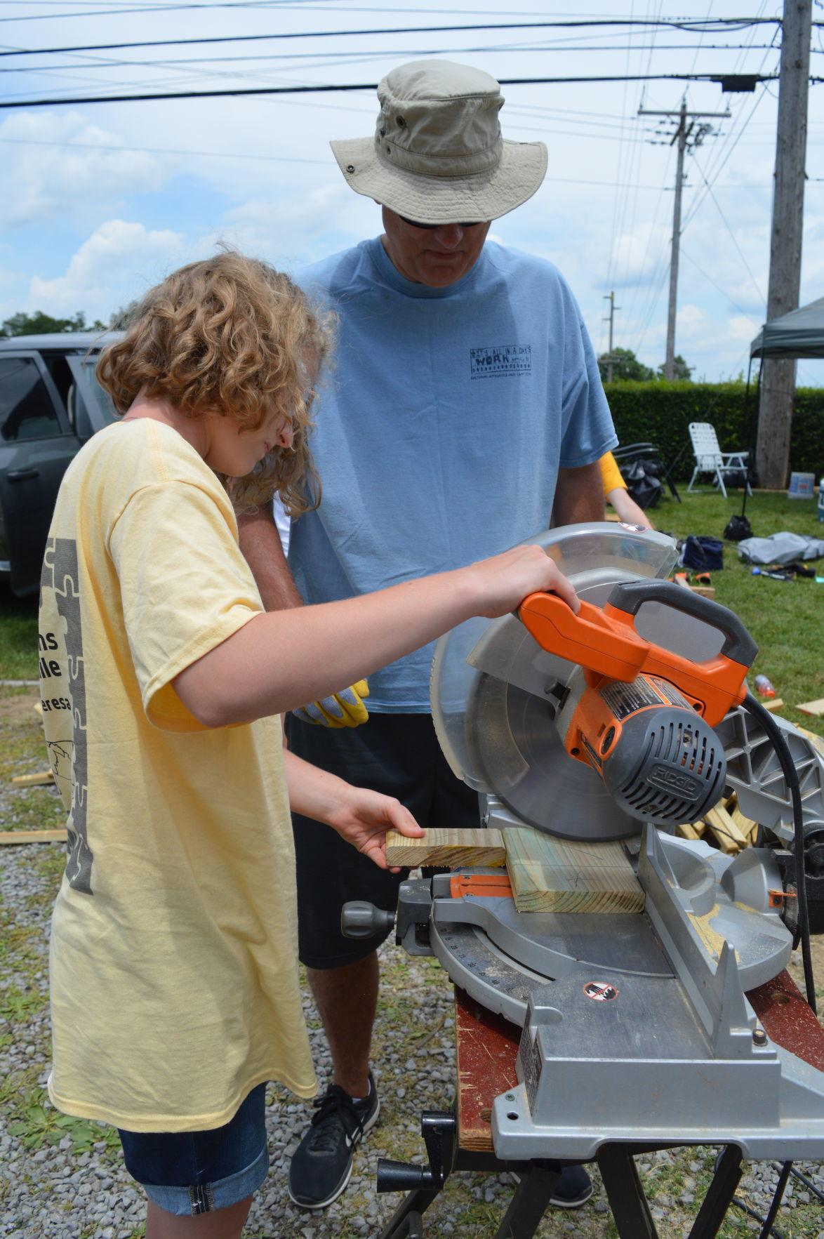 Summer Home Repair Program: Learning the circular saw