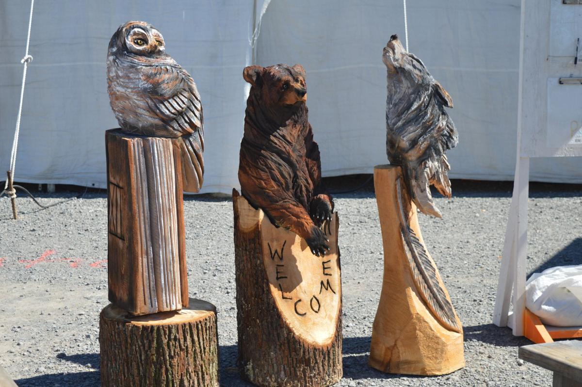 Bear hollow carvings draws crowds at the buckwheat festival news