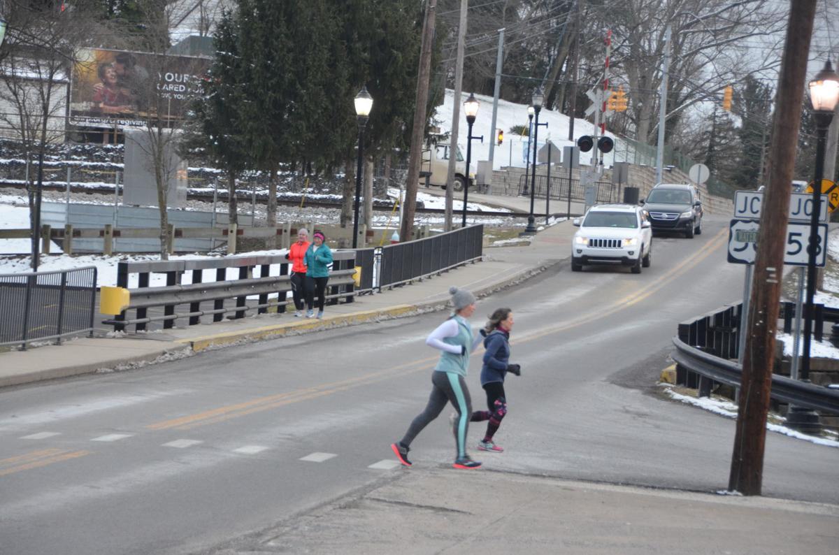 Running across the street