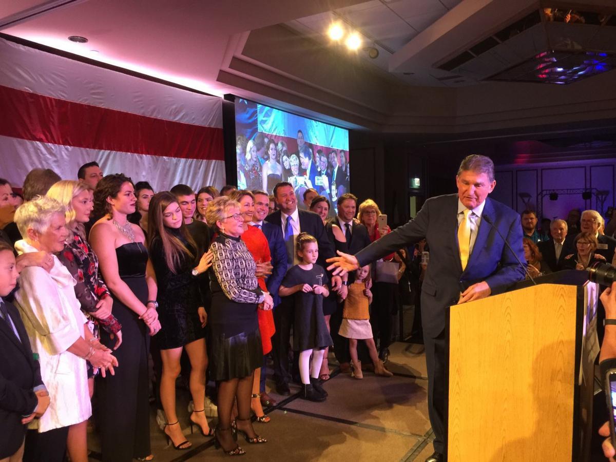 U.S. Sen. Joe Manchin, D-W.Va. flanked by family