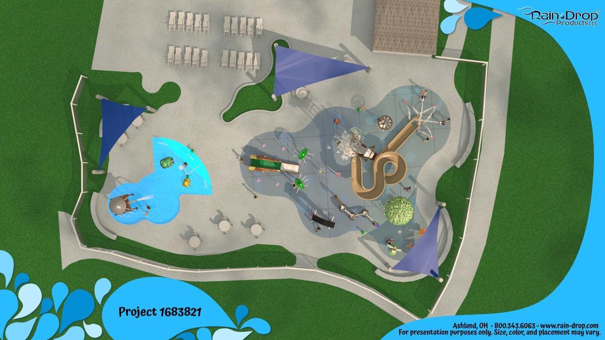 Proposed splash park rendering