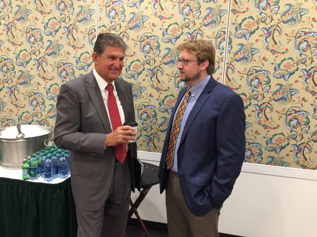 U.S. Senator Joe Manchin and WVU's Brian Anderson