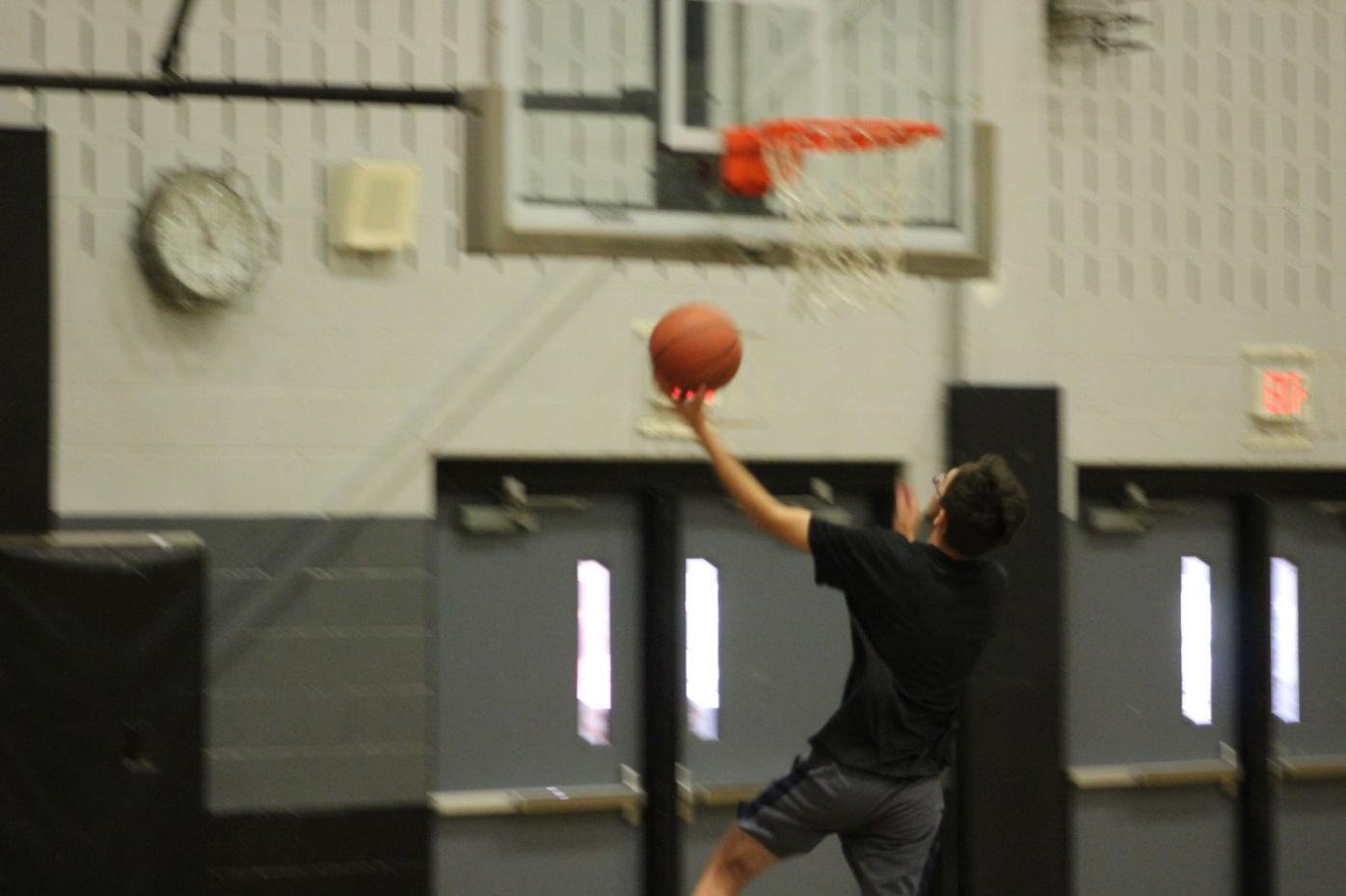 PHS Basketball Practice layup