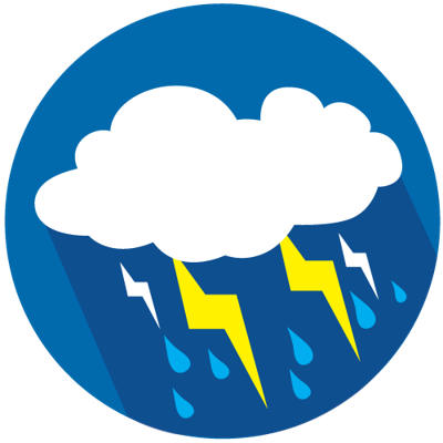 Severe thunderstorm logo