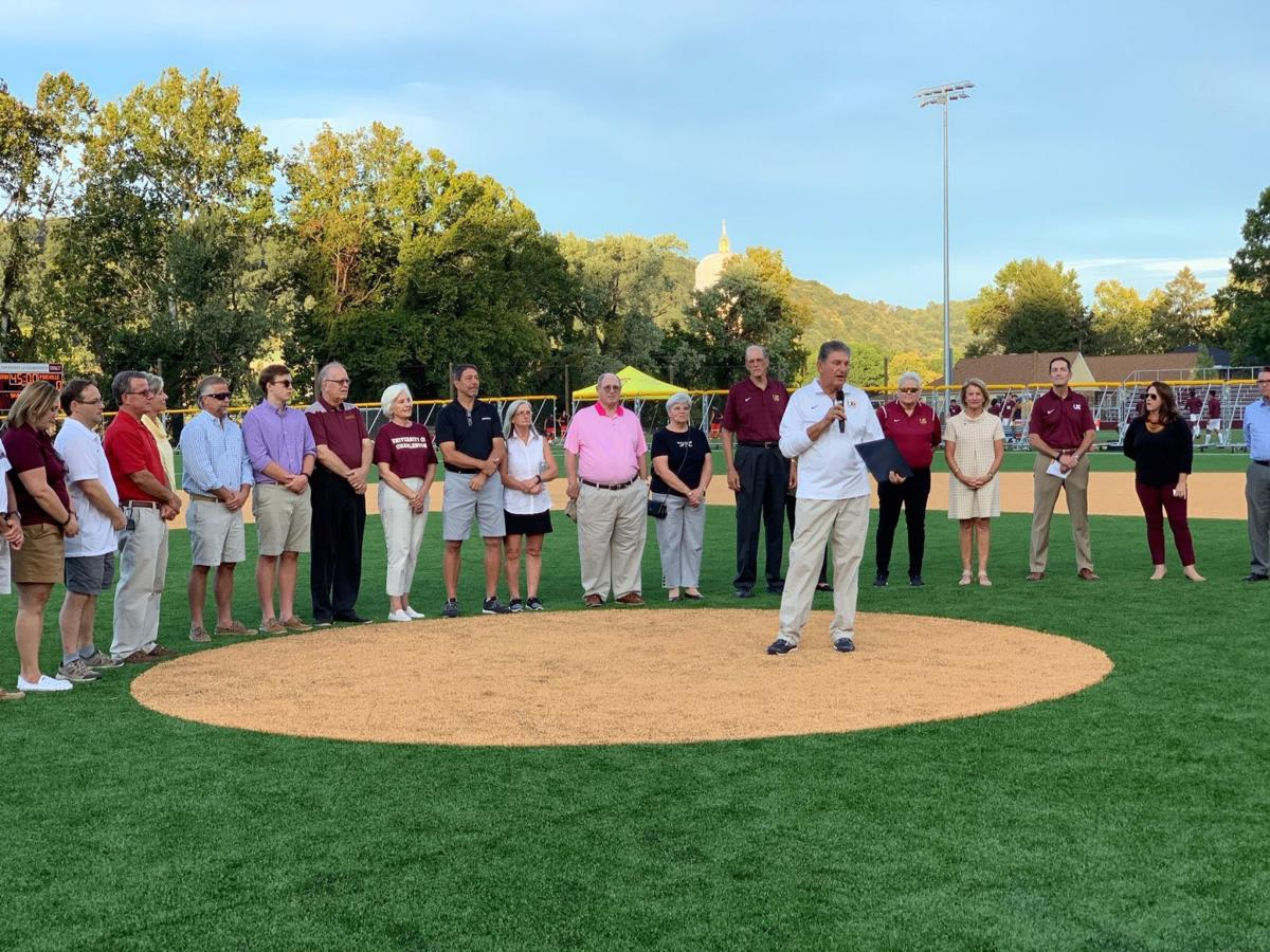 University Of Charleston >> U S Senators From Wv Helps Dedicate Welch Athletic Complex