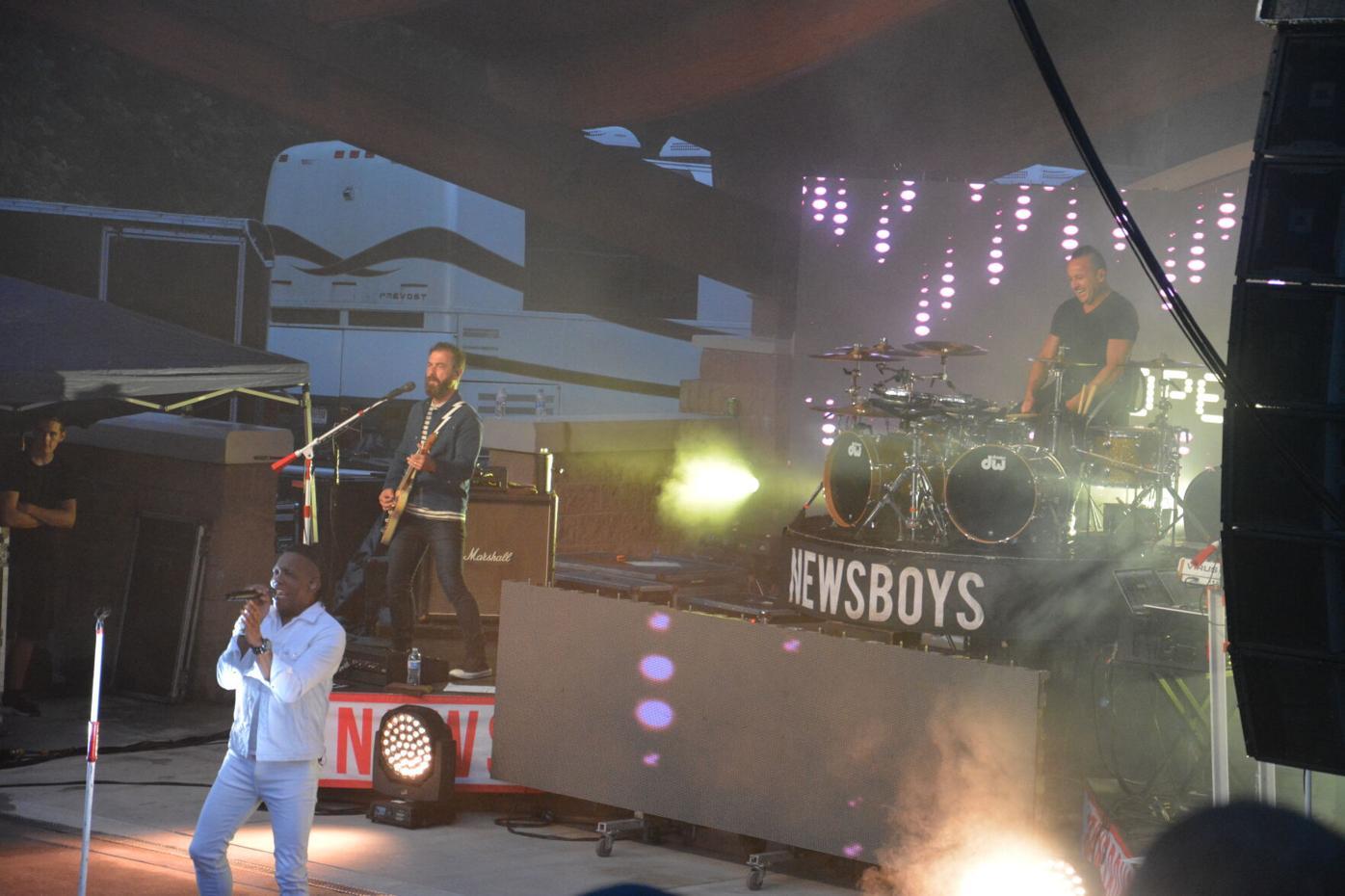 Newsboys performing