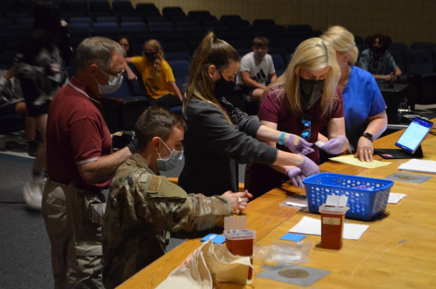 Preparing vaccine at EFHS