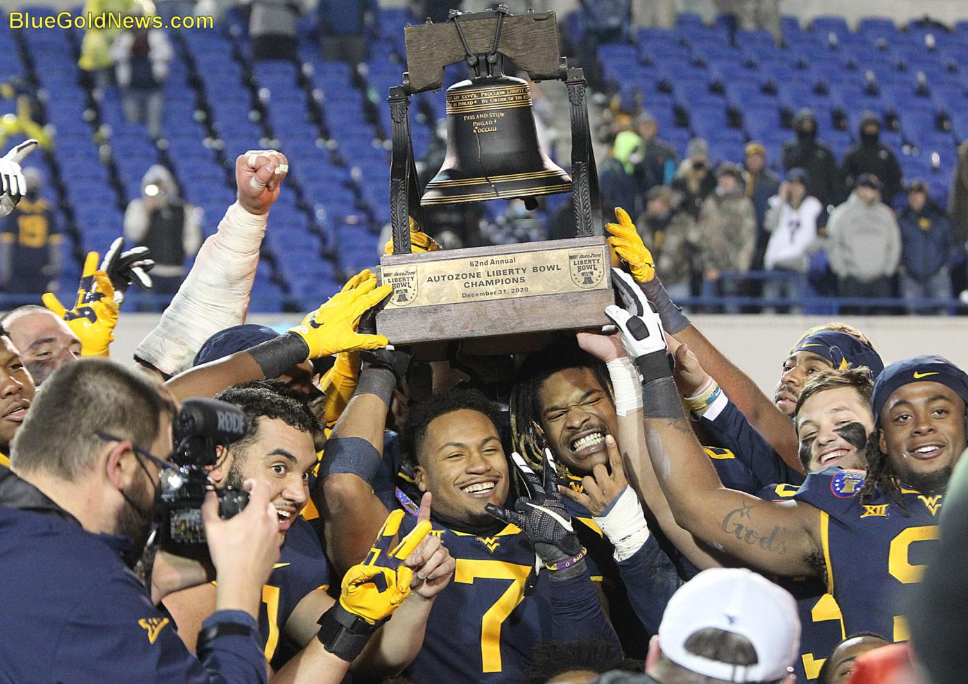 WVU Football Liberty Bowl Trophy.JPG