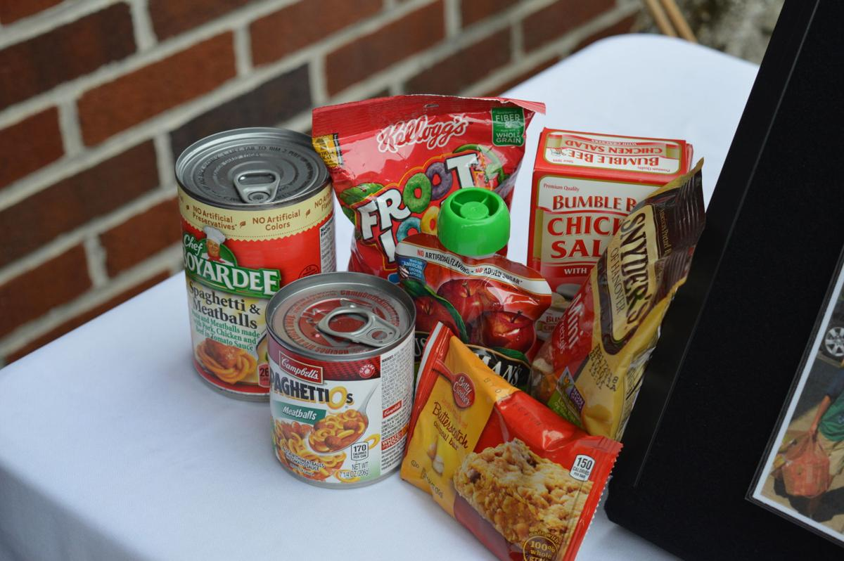 Sample of potential foods in backpack program