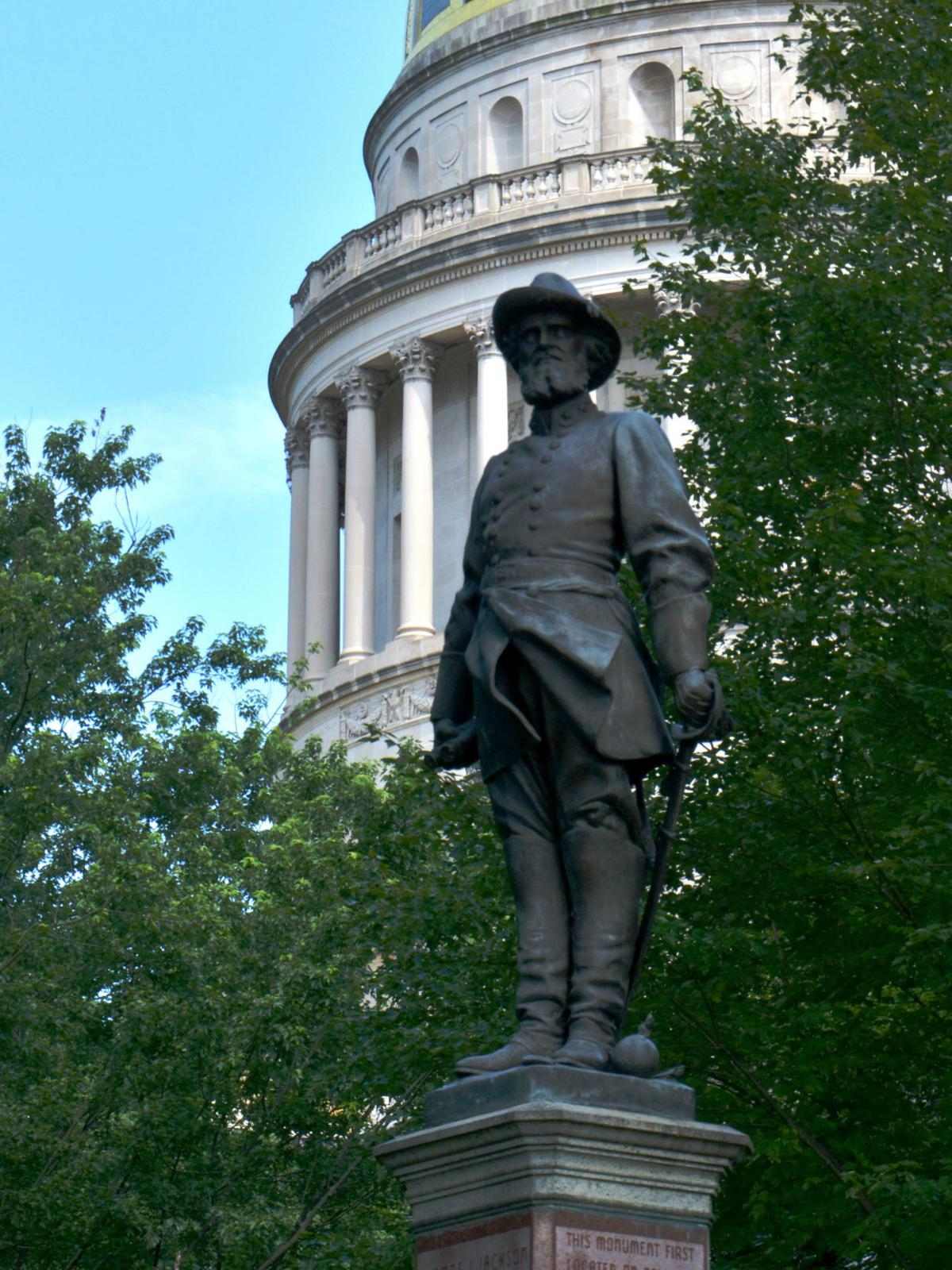 Stonewall jackson statue at wv capitol