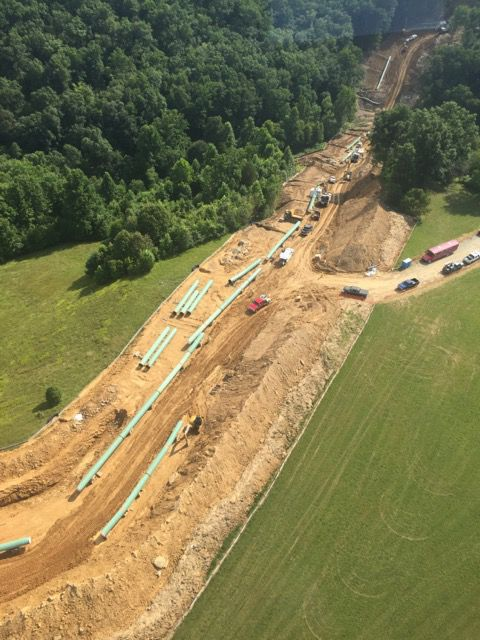 Atlantic Coast Pipeline under construction
