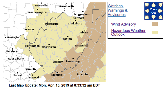 NWS Map 04-15-2019