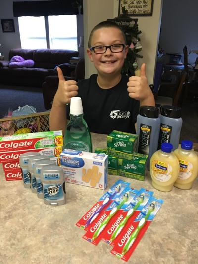 Broad Ford Elementary student collecting for veterans