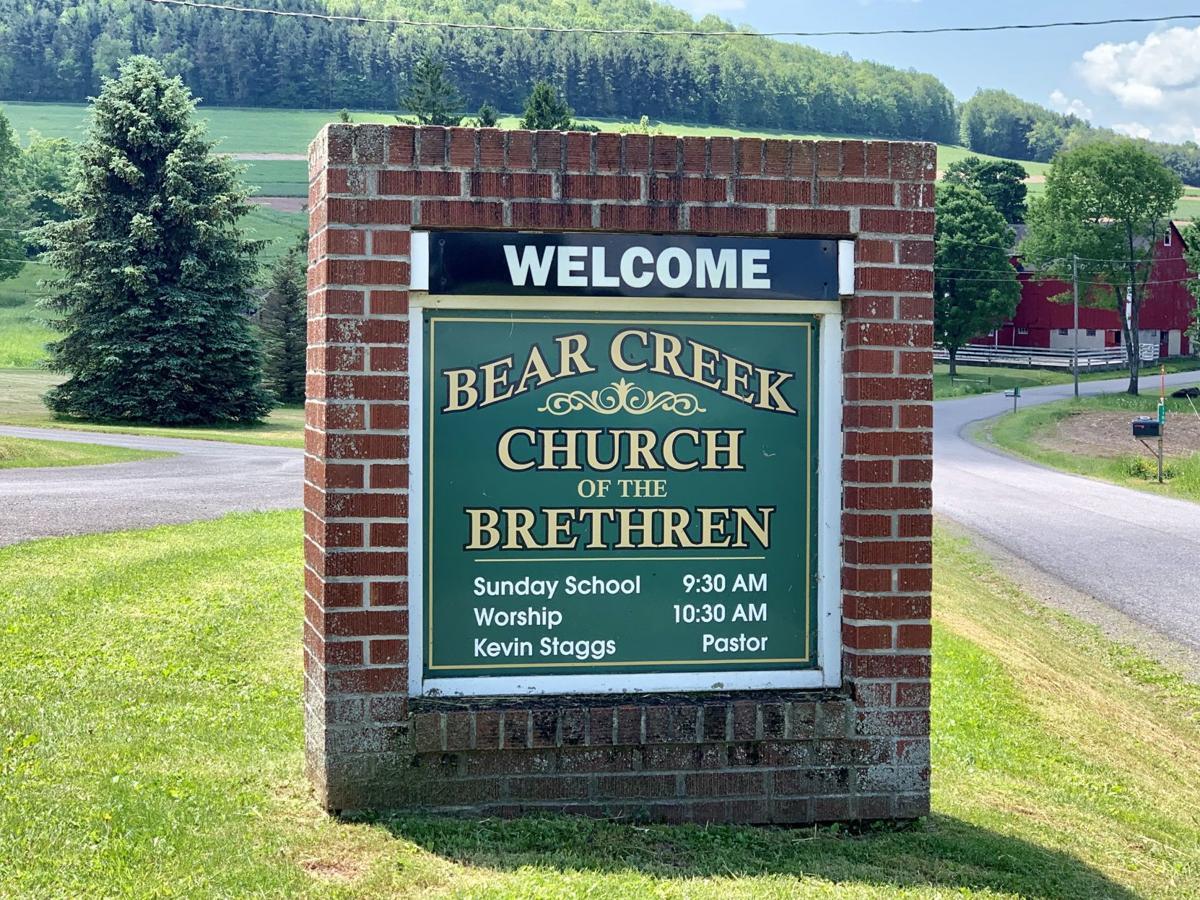 Bear Creek Church sign