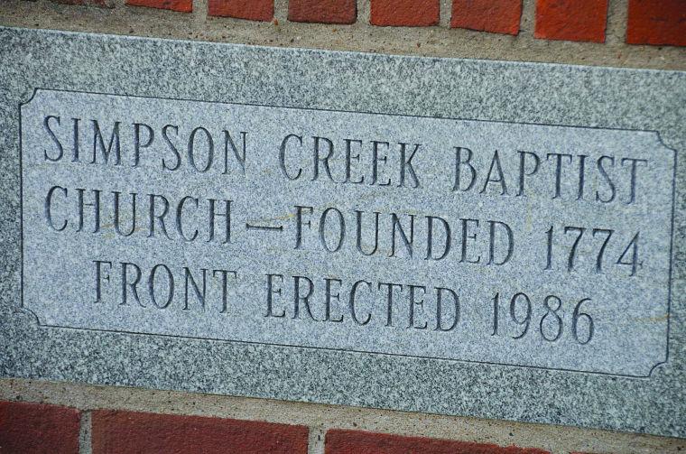Simpson Creek Baptist Church historical stone