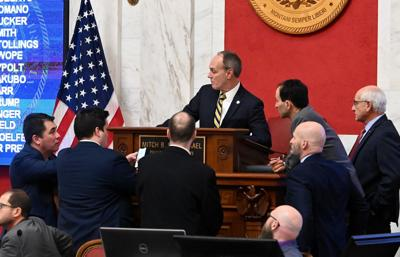 Senate lawmakers conferring
