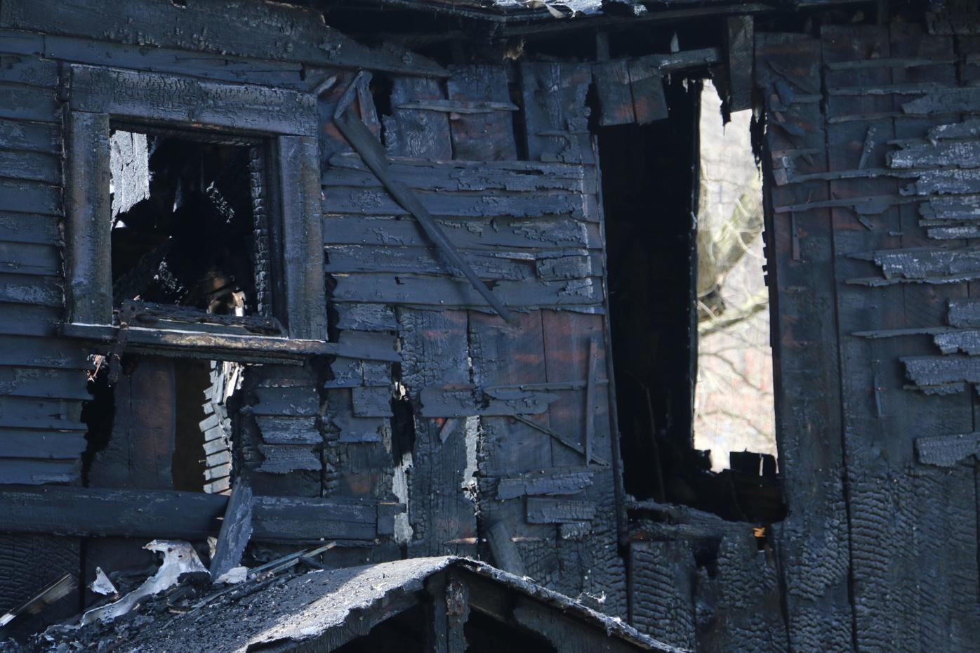 Albright fire closeup