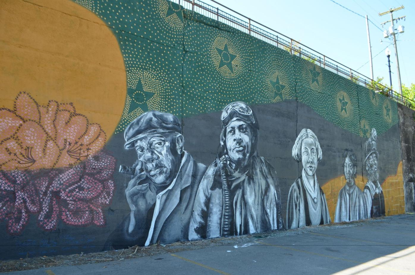 Completed Palatine mural