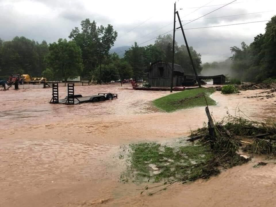 Flooding near Harman